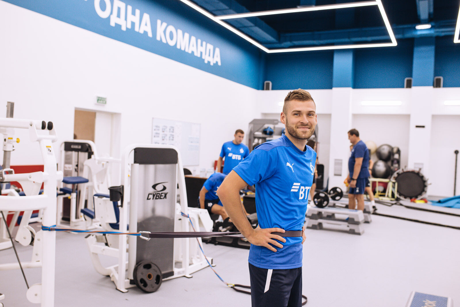 Тренировка перед матчем с «Уфой»