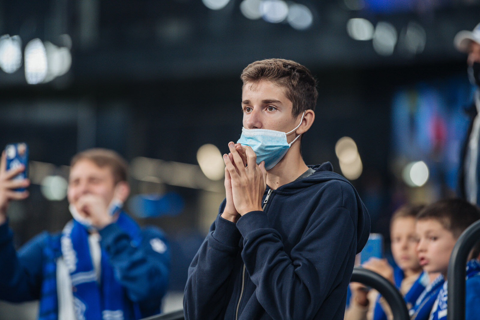Болельщики на матче «Динамо» — «Нижний Новгород»