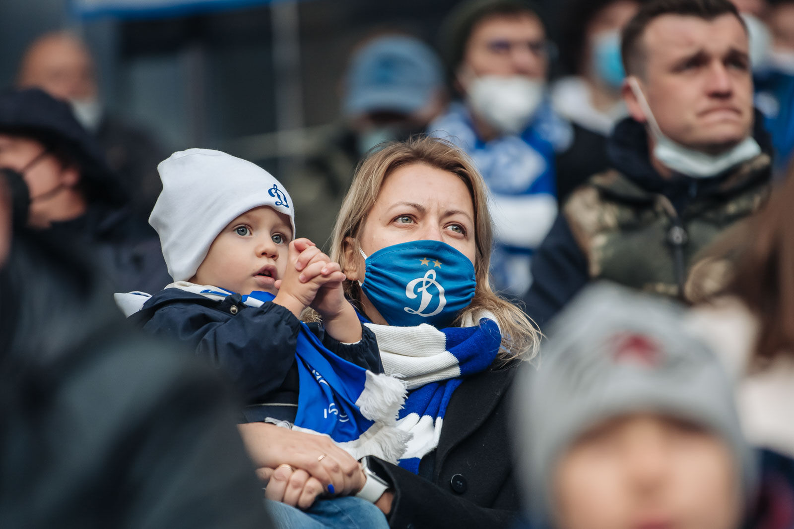 Fans at the Dynamo vs Krylia Sovetov match