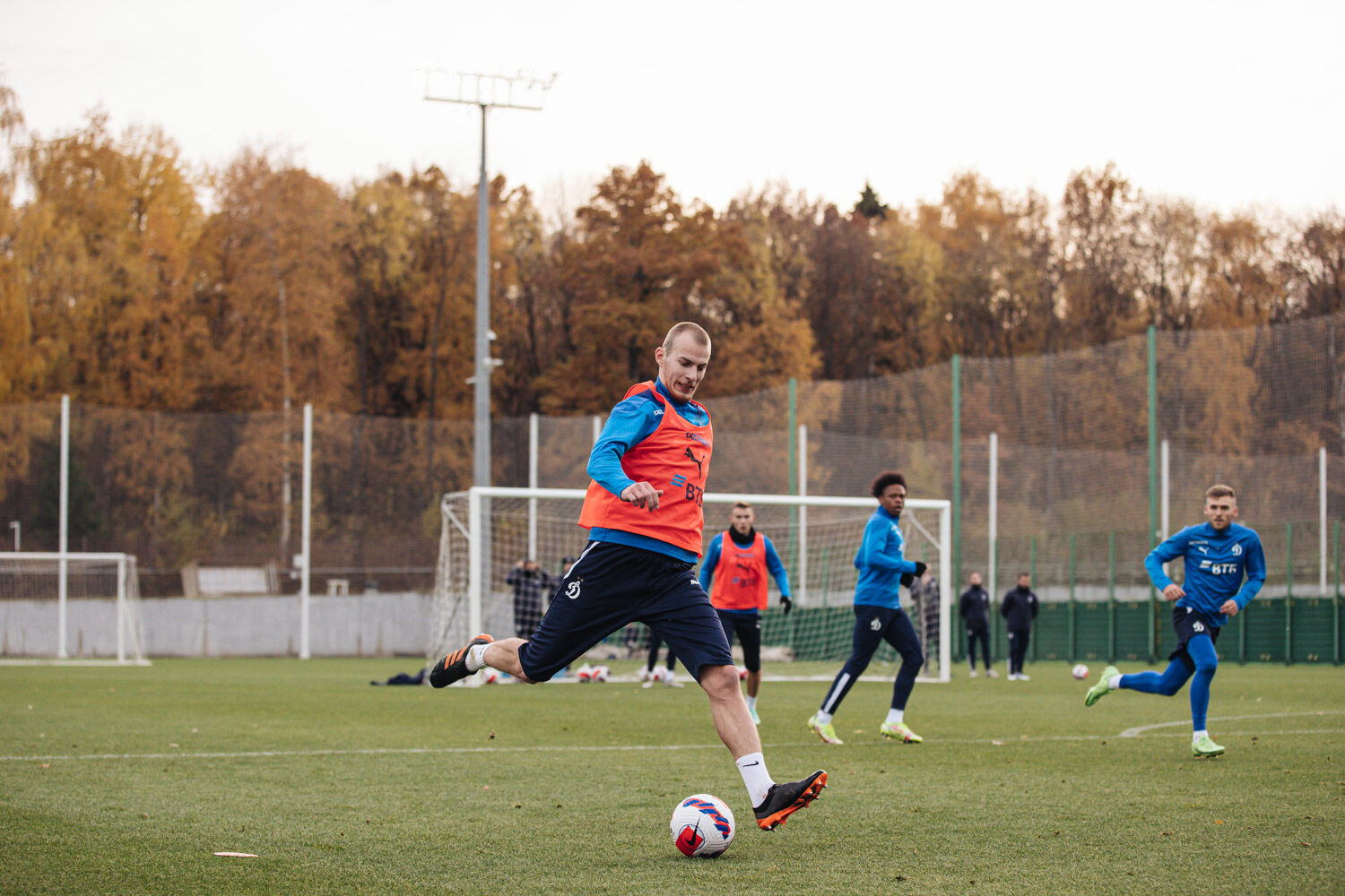 Training session on the eve of the match against Spartak