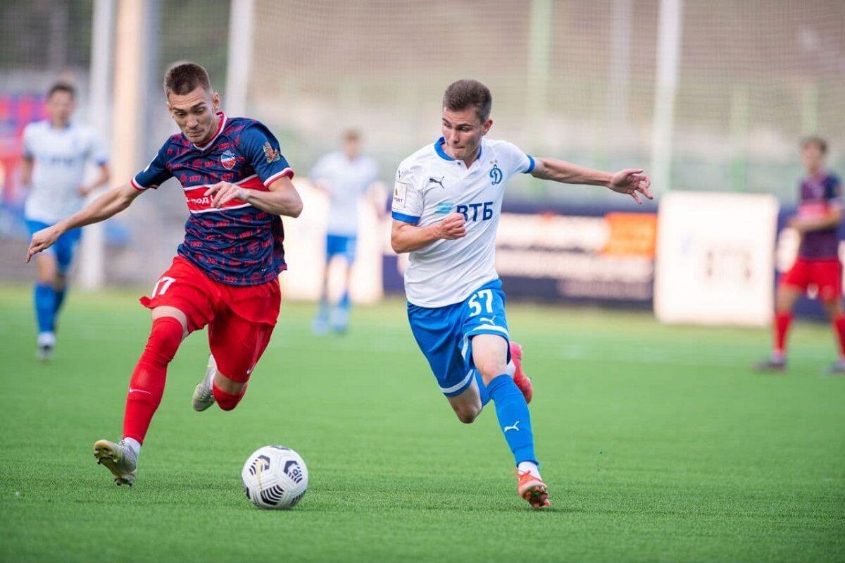 Футболисты «Динамо-2» разгромили вторую команду «Енисея»