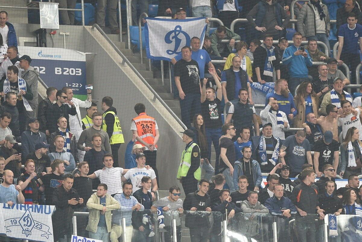 Матч в Санкт-Петербурге смогут посетить 975 болельщиков «Динамо»
